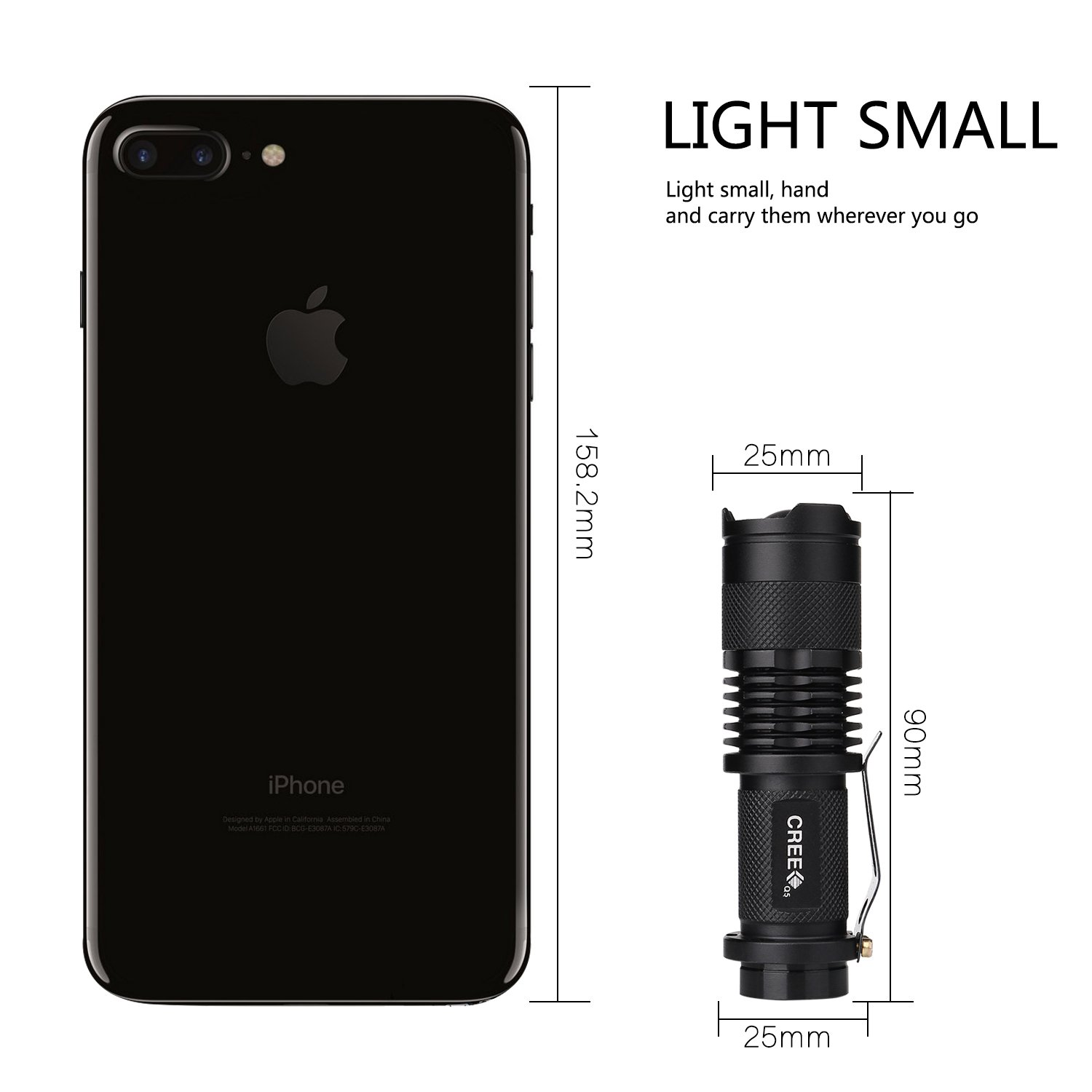 GSPON LED Flashlight,Outlite High Power 3 Mode Tactical Flashlight Handheld Waterproof Flashlight for Outdoor by GSPON (Image #6)