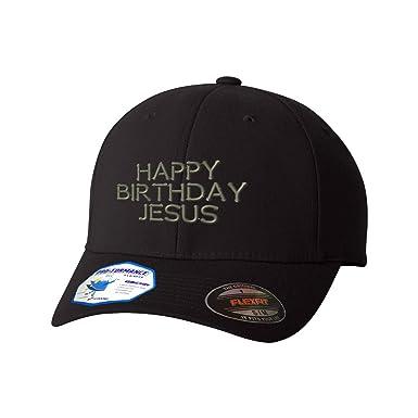 Happy Birthday Jesus Flexfit Adult Pro Formance Hat Black Small Medium