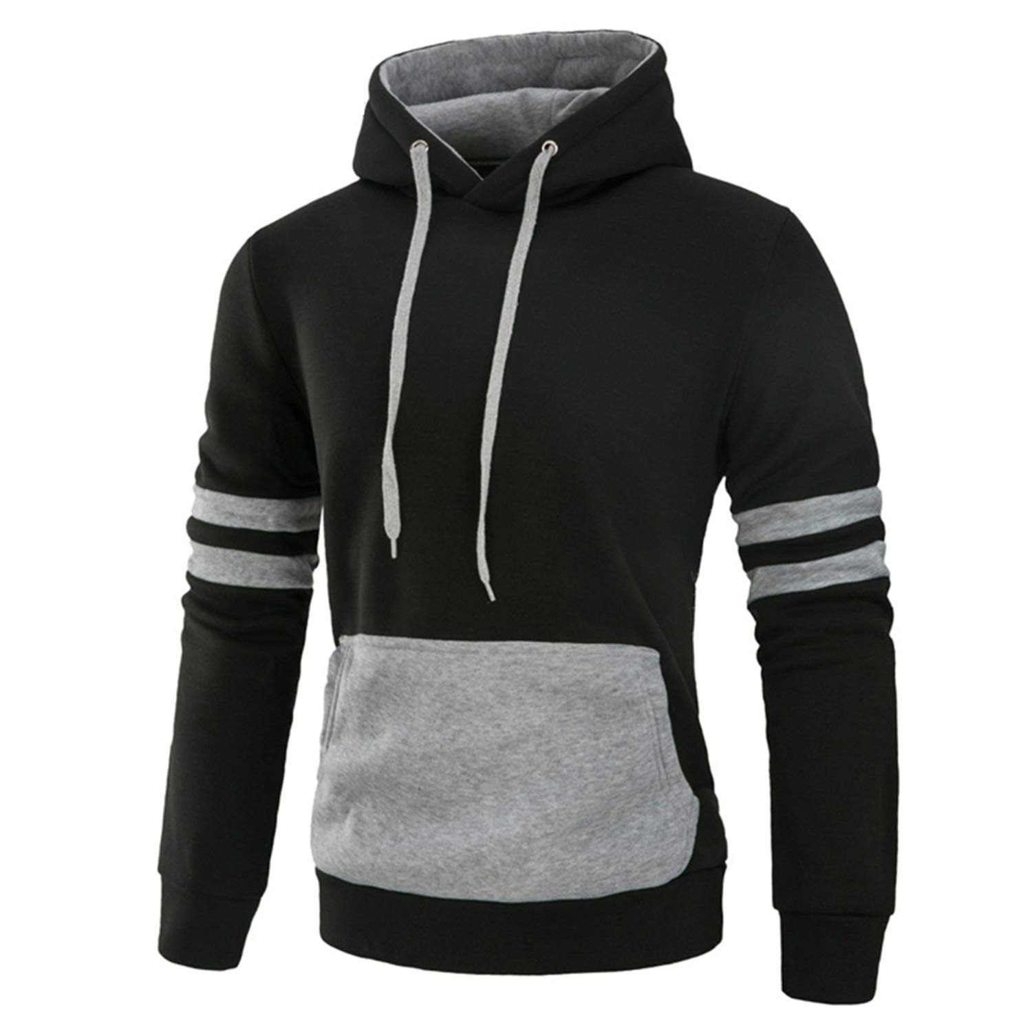 Hoodies Men Long Sleeve Warm Hooded Jacket Pullover Outwear Tops Sweatshirt