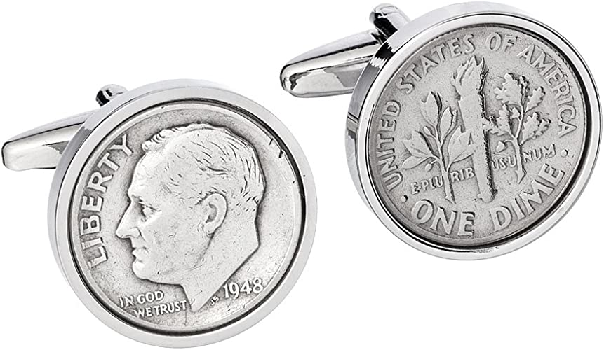 81st Birthday Coin Cufflinks | 1938 US Dime Cufflink Set | Gift for Men Handmade Personal