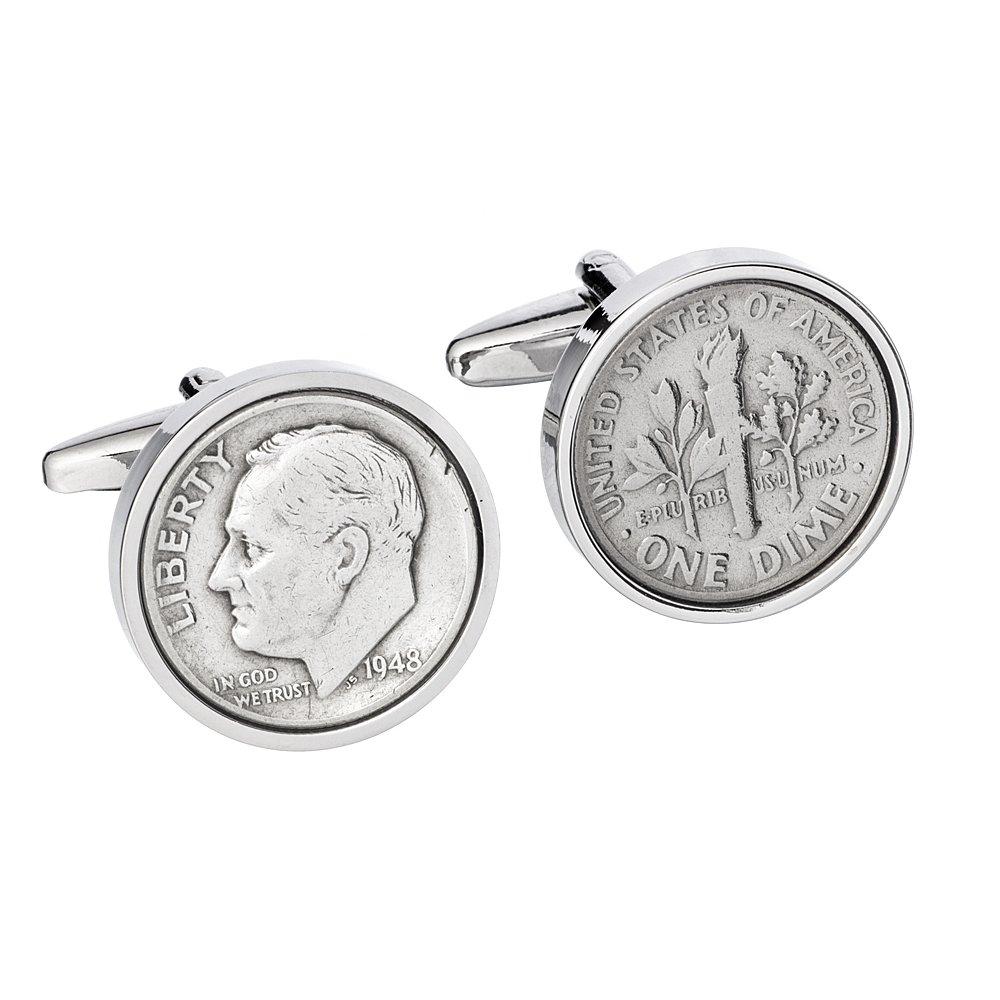74th Birthday Coin Cufflinks | 1944 US Dime Cufflink set | Gift for Men Handmade Personal