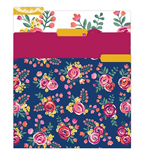 Pretty Floral Pattern (bloom daily planners File Folders - Set of Six 8.5