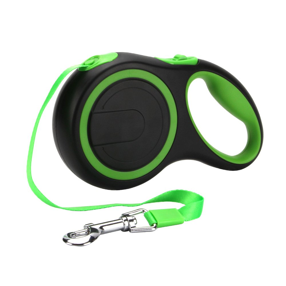 PetsKing Dog Retractable Leash, 16 foot Dog Walking Leash for Medium Large Dogs up to 110lbs, Tangle Free, One Button Break & Lock -Green