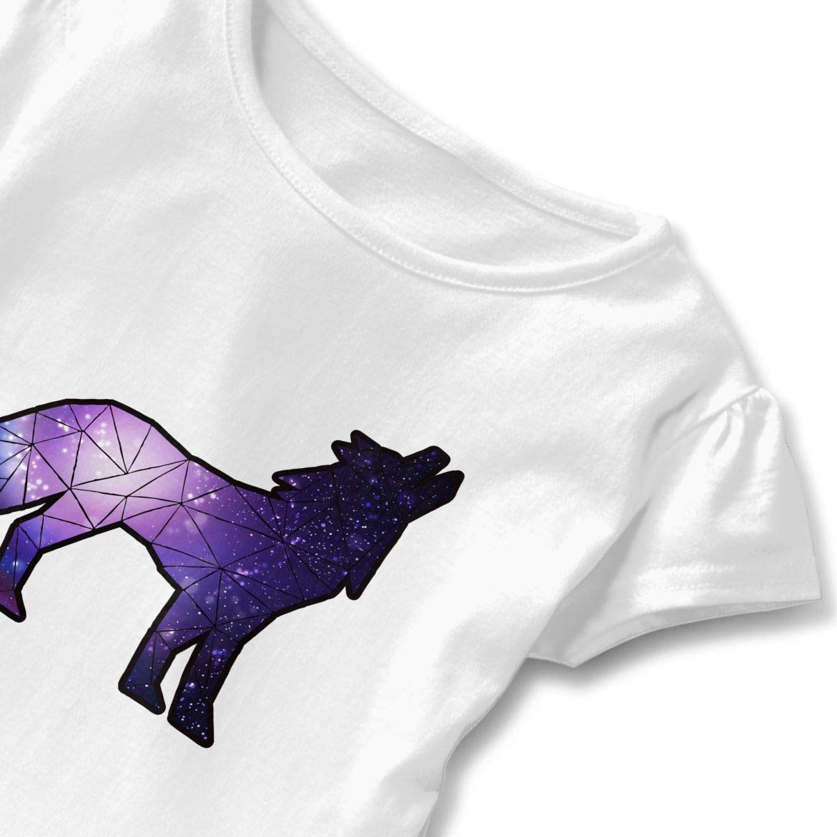 Geometric Galaxy Wolf-1 Child Crew Neck Shirt Pullovers