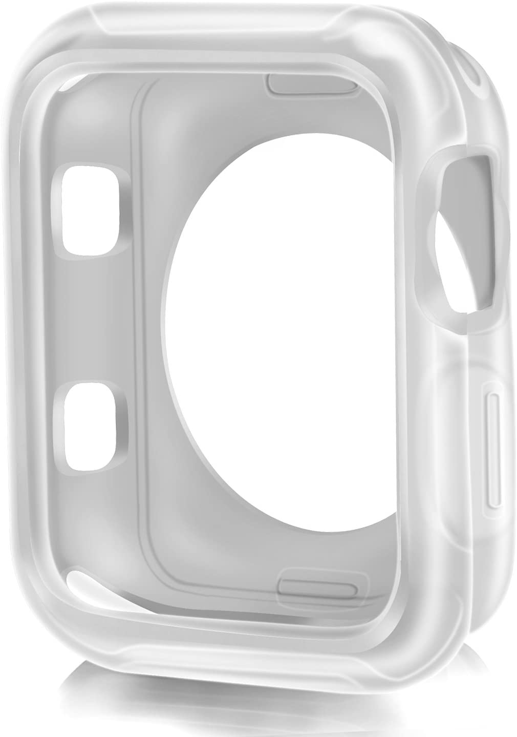 XinywTech Compatible Apple Watch Case 42mm,Shock-Proof and Shatter-Resistant Protector Bumper iwatch Case Compatible Apple Watch Series 3/2/1,Nike+,Sport,Edition (Clear, 42mm)