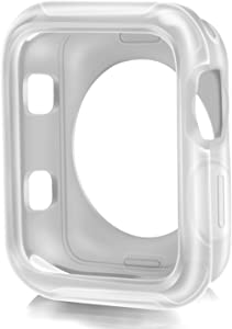 XnetTech Compatible Apple Watch Case 38mm,Shock-Proof and Shatter-Resistant Protector Bumper iwatch Case Compatible Apple Watch Series 3/2/1,Nike+,Sport,Edition (Clear, 38mm)