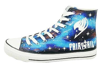 Fairy Tail Anime Schuhe auf Leinwand Nachtleuchtend