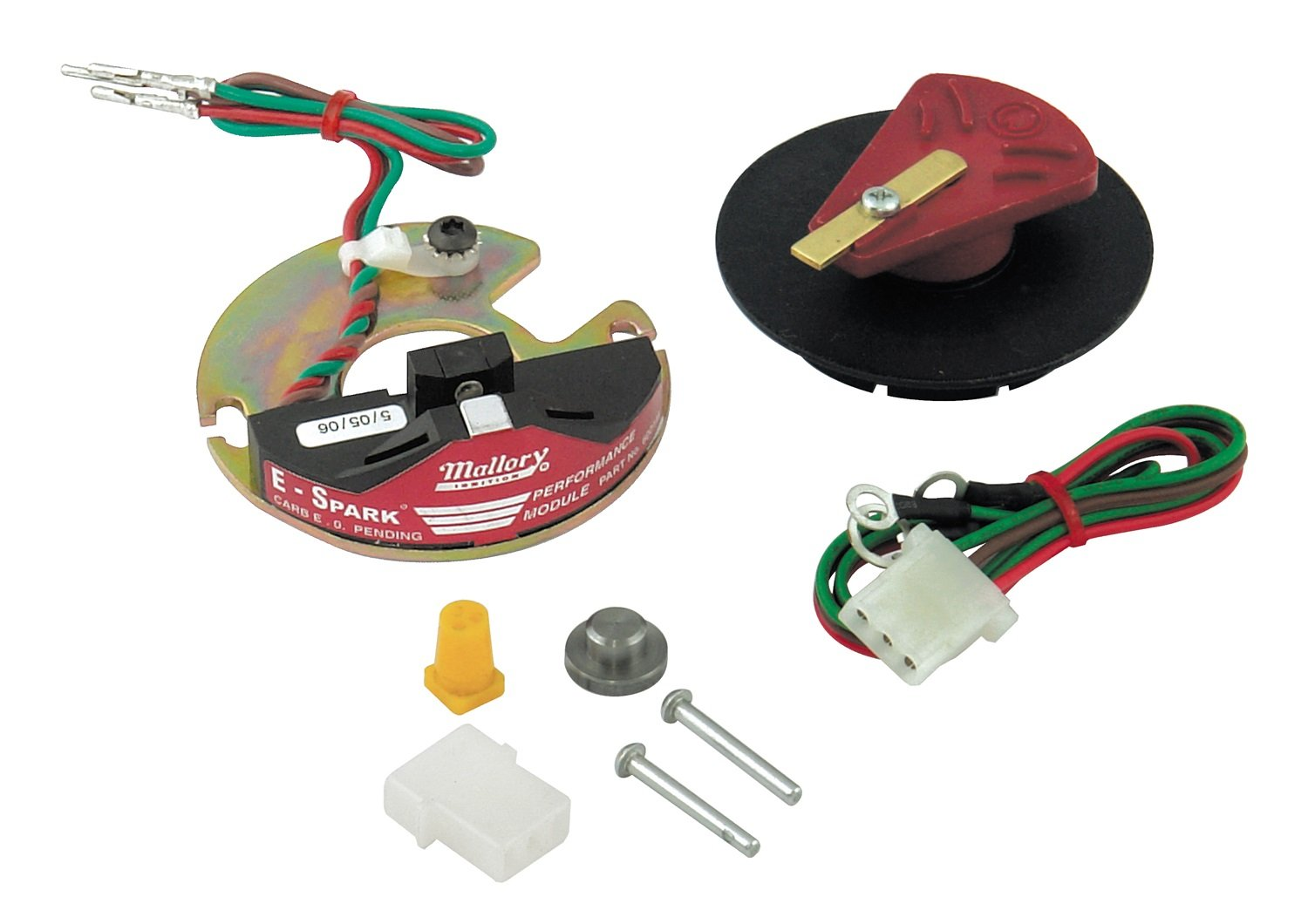 Amazon.com: Mallory 61004M E-Spark Conversion Kit (8Cyl, Std Cap):  Automotive