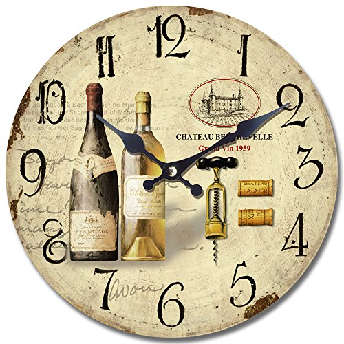 Yosemite Home Decor CLKA7186 Circular Iron Framed Wall Clock with Glass, Gray