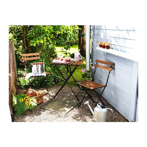 Ikea - Mesa de jardín tärnö con 2 sillas Acacia Color Marrón ...