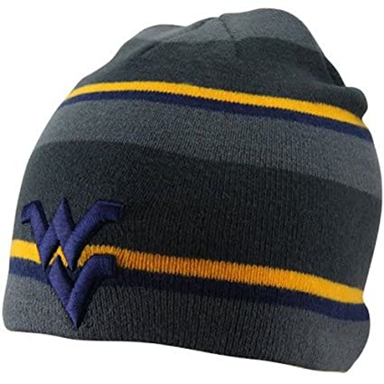 22fb364190a Image Unavailable. Image not available for. Color  Nike West Virginia  Mountaineers Youth Striped Knit Beanie ...