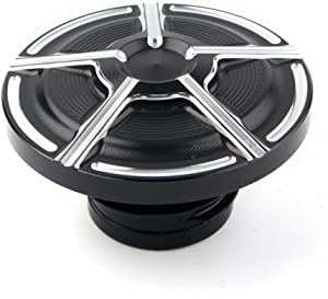 Three T Motorcycle Fuel Gas Tank Oil Cap Cover Protector Fit for Harley Sportster XL883 XL1200 48 Dyna Touring Softail Touring Road King 1992-2017