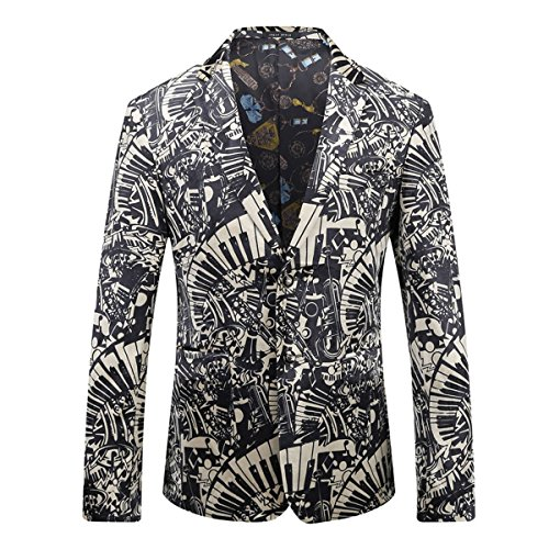Boyland Mens Sport Coat Music Fans Performance Blazer