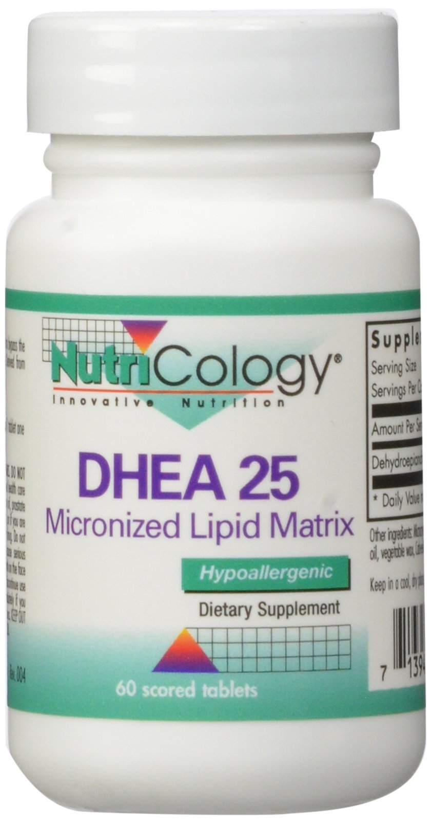 Nutricology Dhea 25 Mg Sustained Release Tablets, 60 Count