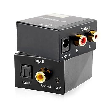Cablesson SAP-3 (DAC) Convertidor de convertidor de audio digital a analógico Coaxial
