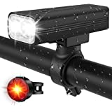 EBUYFIRE Bike Headlight Taillight Set,Ultra Bike Lights Front and Back Bicycle Light Back Flashing with USB Rechargeable…