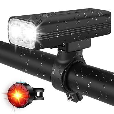 Rechargeable Bike Light Set 1000 Lumen Super Bright LED Bicycle Front Headlight