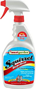 I Must Garden Squirrel Repellent: Protects Vehicles, Plants, Decking, Furniture – Works on Chipmunks – 32oz Ready to Use