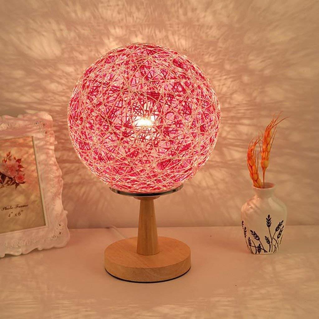 FERZA Home Tischlampe, Schlafzimmer nachttischlampe einfache Moderne dekorative tischlampe nachtlicht pastoralen leinen Rattan tischlampe originalität