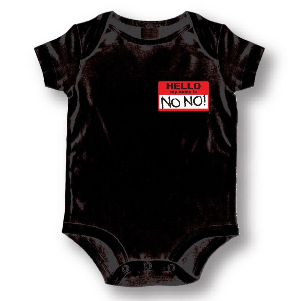Dustin clothing series Hello My Name Is No No Baby Boys Girls Toddlers Funny Romper 0-24M