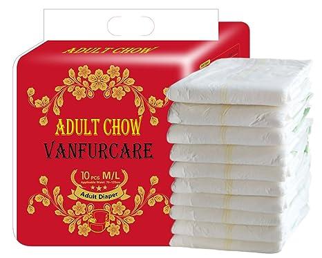 VANFURCARE - Pañales desechables para adultos desechables para hombre (talla M/L, 1