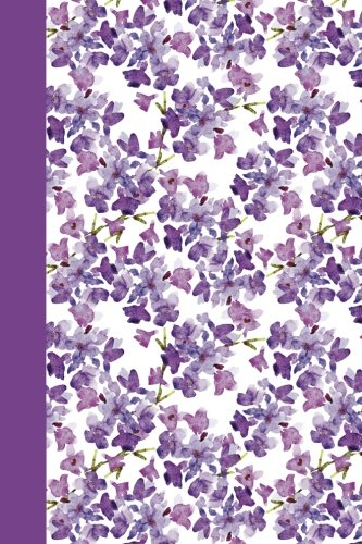 Journal: Watercolor Purple Flowers 6x9 - LINED JOURNAL - Journal with lined pages - (Diary, Notebook) (Watercolor Flowers Lined Journal Series)