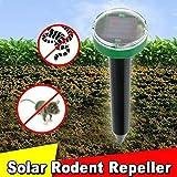 WO Mole Repeller Snake Gopher Repellent Solar Spike