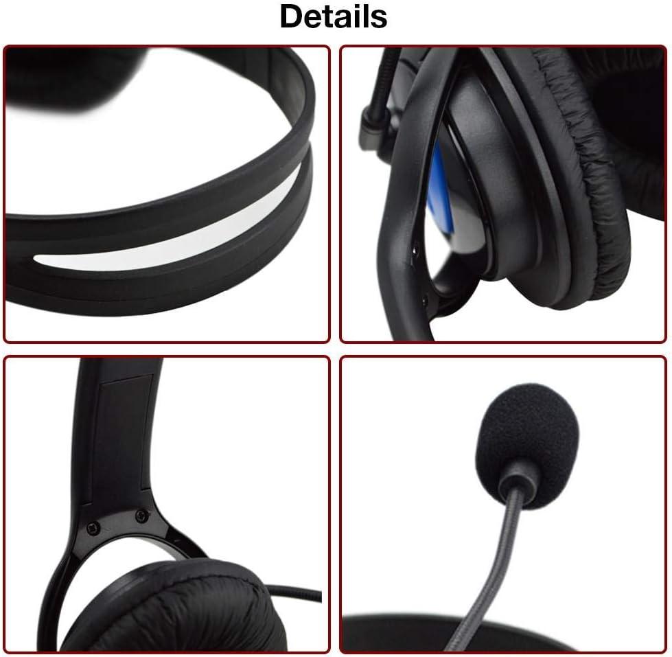 Casque USB avec microphone double face pour les entreprises Skype Travail /à domicile Centre dappels Bureau Conf/érence vid/éo Ordinateur portable PC VOIP Softphone T/él/éphone Casque antibruit Casque