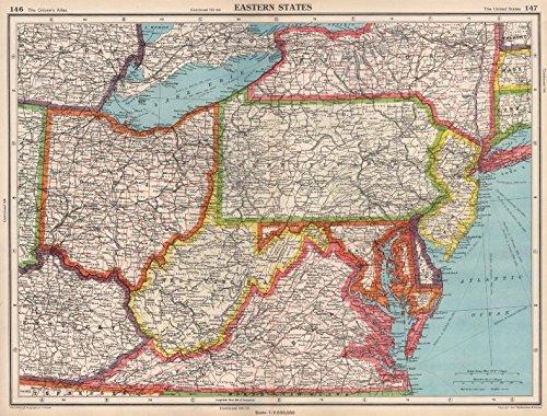 Amazon.com: USA EASTERN STATES. WV Virginia Pennsylvania MD ...