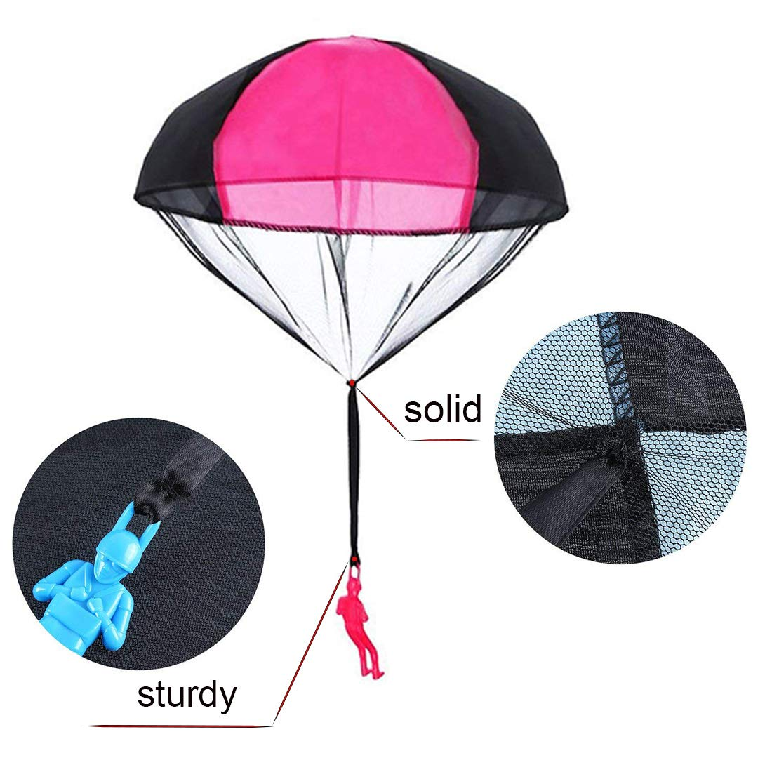 Huihui Decoration 7 Pieces Parachute Toys,Tangle Free Parachute Men Throwing Hand Throw Soldiers Toss It Up and Watching Landing Outdoor Parachute for Kids by Huihui Decoration (Image #3)