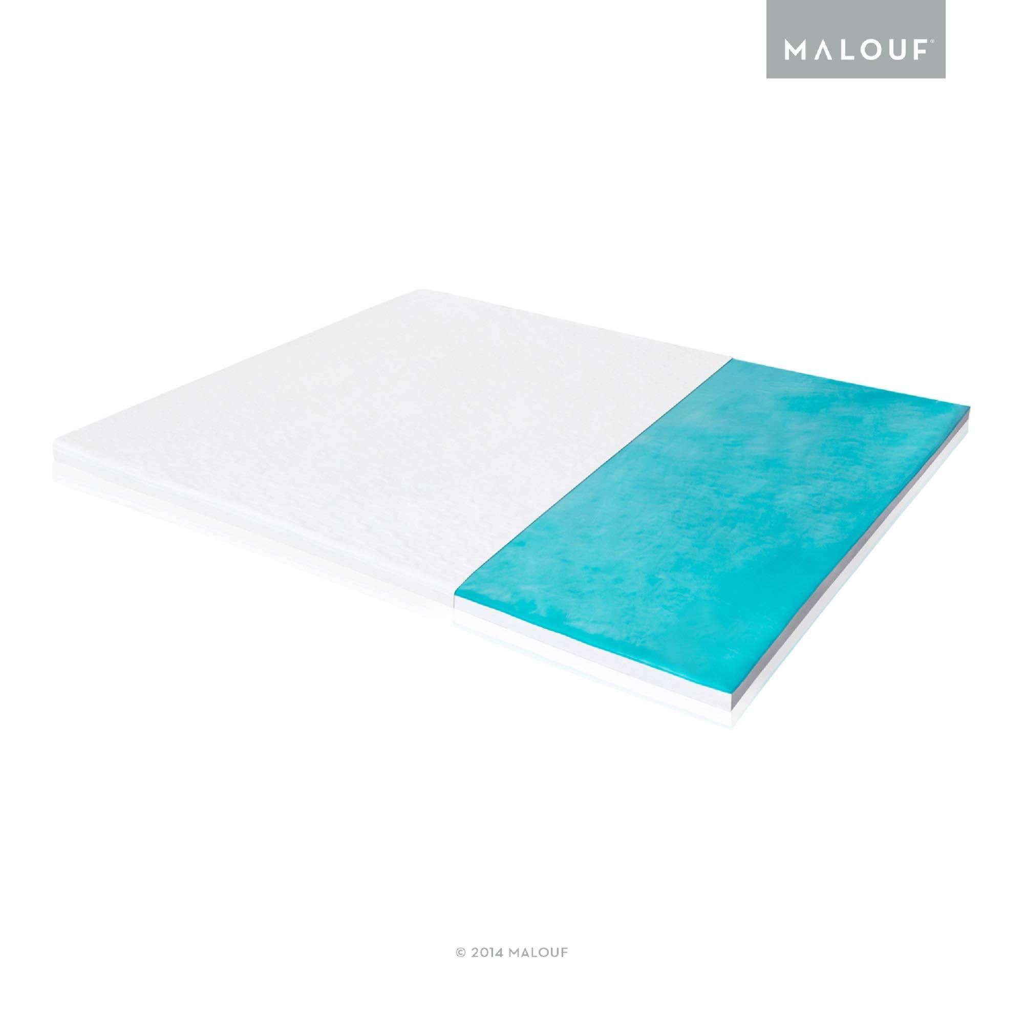 ISOLUS 2.5 Inch Liquid Gel Memory Foam Mattress Topper - 3-Year Warranty - King by MALOUF