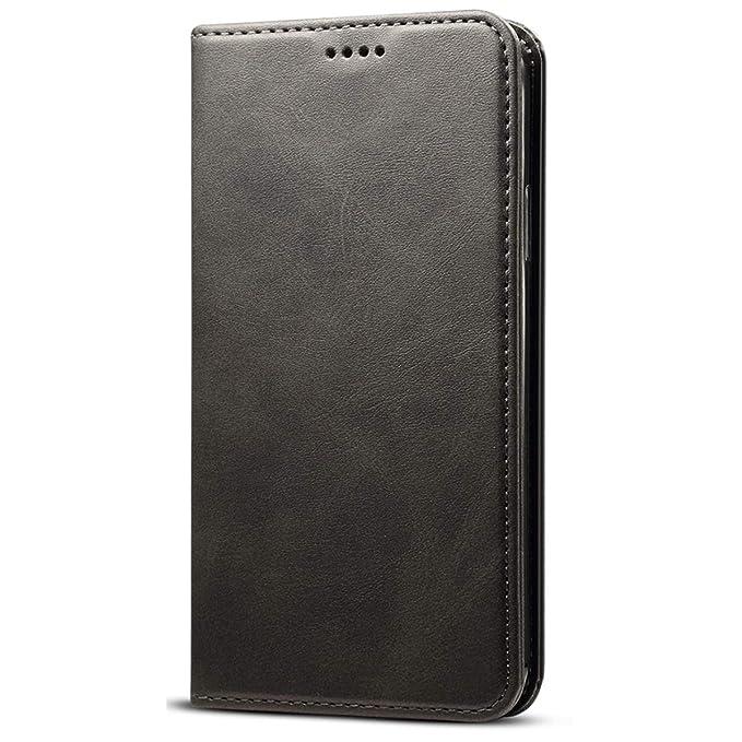 Amazon.com: Funda de piel tipo cartera para iPhone XS Max/XS ...