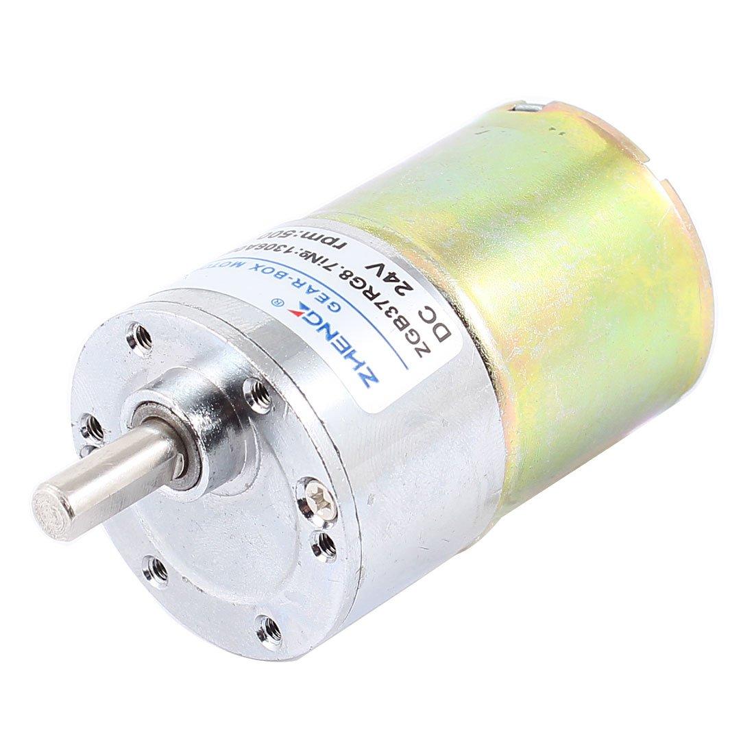 DC 24V 0.33A 37mm Dia Magnetic Gear Geared Box Motor 500 RPM