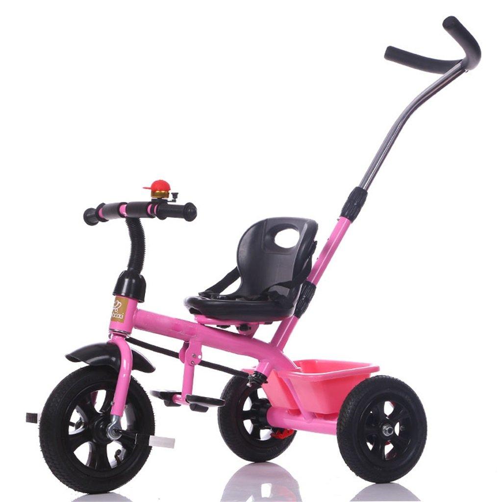 KANGR-子ども用自転車 三輪車の赤ちゃんキャリッジバイク子供のおもちゃの車インフレータブルホイール/泡ホイール自転車3ホイール、ピンク(ボーイ/ガール、1-3-5歳) ( 色 : A type ) B07BTWQ92L A type A type