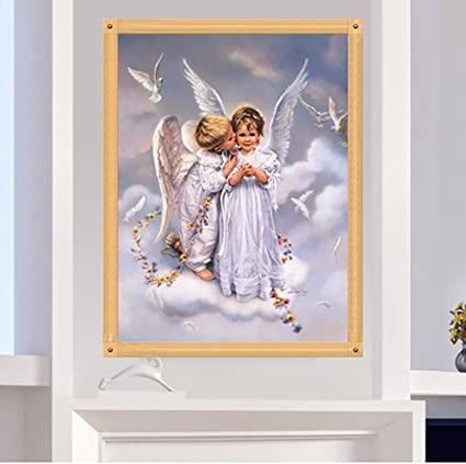 DIY 5D Diamond Painting Angels Embroidery Cross Stitch Crafts Home Decor