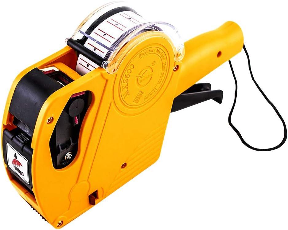 LIOOBO Etiquetadora Pistola de Precios máquina etiquetadora (Amarillo)