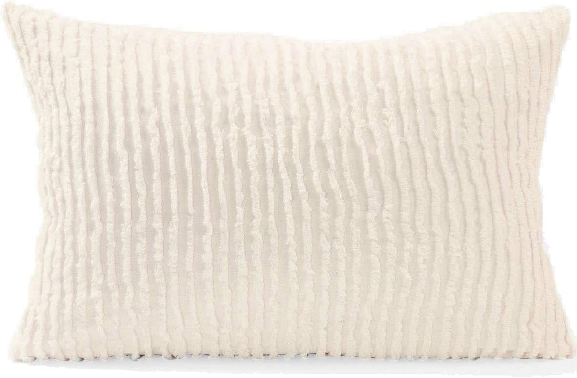 Beatrice Home Fashions Channel Chenille Bedspread, Standard, Ivory