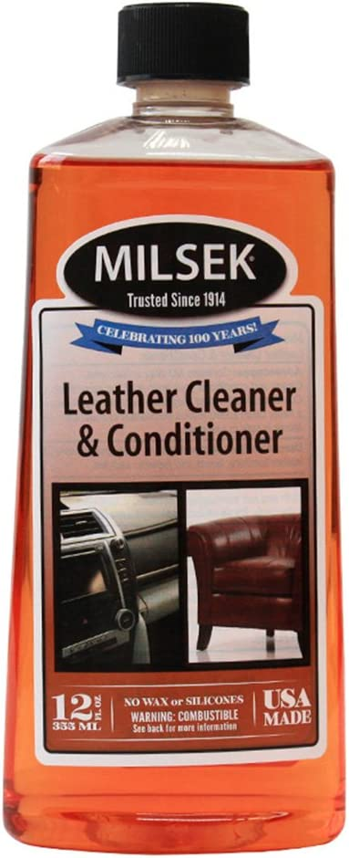 Milsek LC-12 Leather and Vinyl Cleaner & Conditioner, 12 Ounce