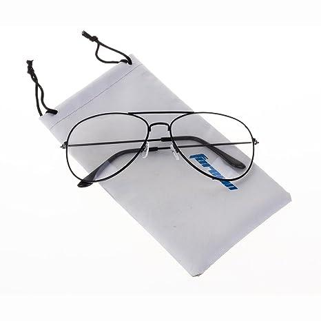 e56c20eaa85468 Forepin reg  Lunettes de Vue Unisex Monture Metalique Cadre Frame Lentille  pour Homme et Femme Adultes