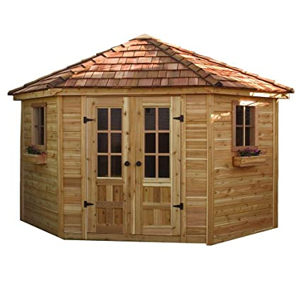 amazon com wood outdoor storage shed poolhouse large shed to