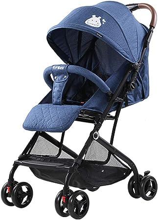 Opinión sobre Baby Stroller El Cochecito Ligero Reduce la Carga de la Madre al Salir, Cochecito de Cuatro Ruedas con amortiguación, Cuna móvil, cinturón de Seguridad de Cinco Puntos Plegable con una Sola Llave