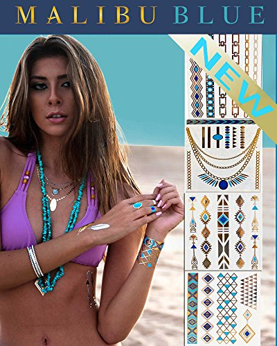*Festival Flash Temporary Tattoos* Stylish & Chic Tattoo Jewelry - 29 Metallic...