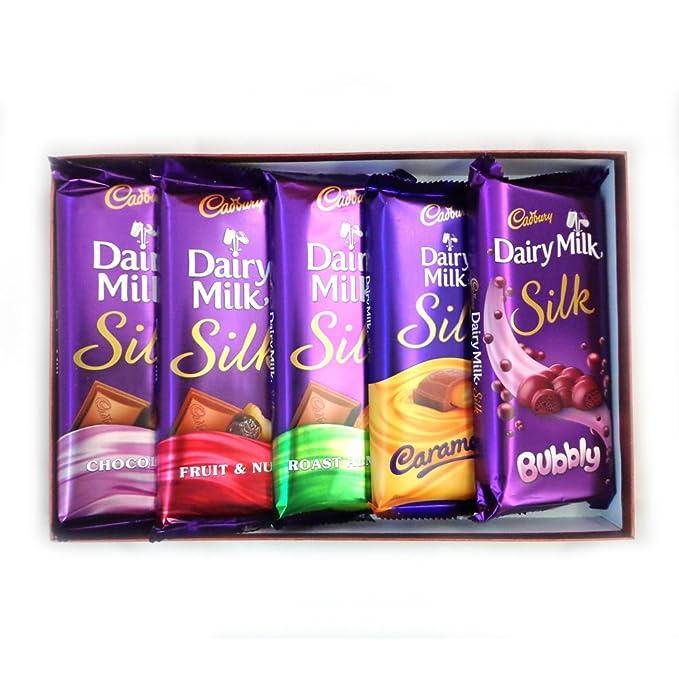 Cadbury dairy milk silk combo pack of 5 270 grams amazon cadbury dairy milk silk combo pack of 5 270 grams thecheapjerseys Images
