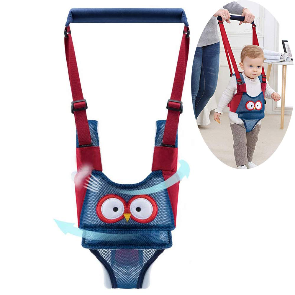 Autbye Baby Walker Toddler Walking Assistant Handheld Stand Up and Walking Learning Leash Kids Safety Walking Harness Safety Belt for Baby 6-36 Months (Breathable Type)