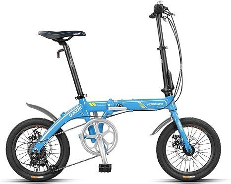 Haoyushangmao Bicicleta plegable, adulto ultraligero y hombres, 16 ...