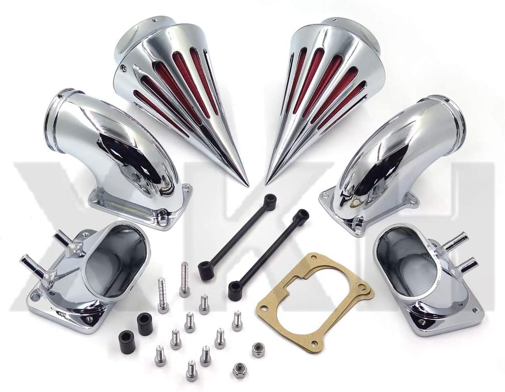Replacment of Bullet Dual Air Cleaner Kit Intake Filter For Suzuki Boulevard M109 All year XKH