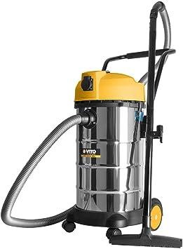 Aspirador de taller agua polvo (1200 W cubeta acero inoxidable 40L apuntador Filtro Manguera 2,5 M puntas cepillo bolsas: Amazon.es: Bricolaje y herramientas