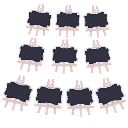 Amazon.com: WarmShine 10 Pcs Mini Chalkboards Place Cards ...