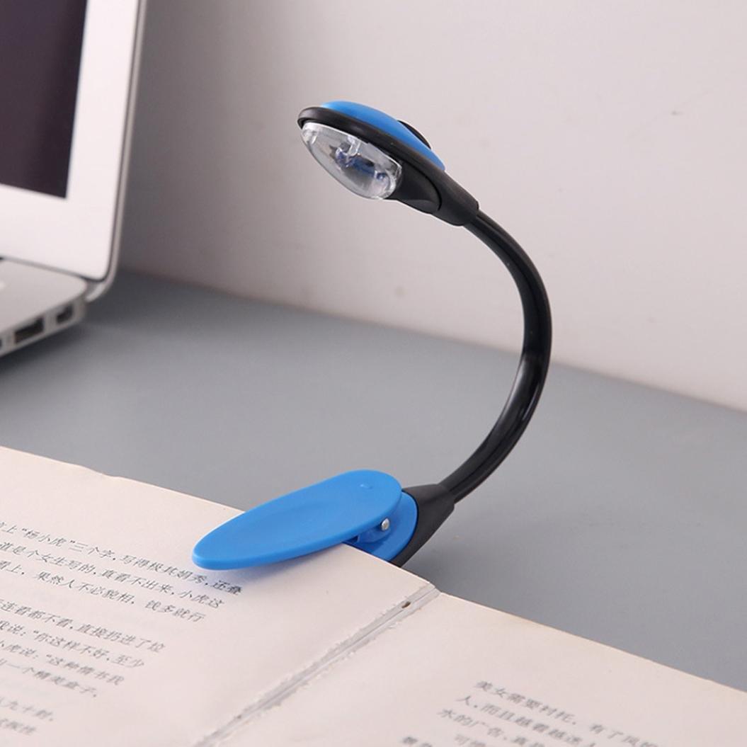 Kingko LED Klemmleuchte Leselampe, Buchlampe,wiederaufladbar Klemmleuchte, Reading LED Light, Mini LED Clip weiß (Grau)