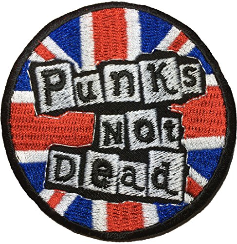 PUNKS NOT DEAD Band Music rock heavy Metal punk logo Jacket Vest shirt hat blanket backpack T shirt Patches Embroidered Appliques Symbol Badge Cloth Sign Costume Gift ()